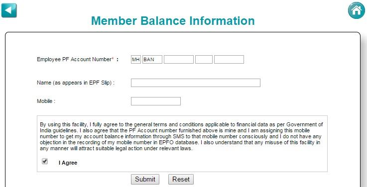 pf balance check without uan
