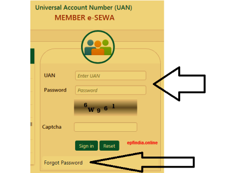 uan password Forgot / change Process